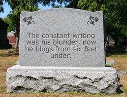 Blogger Tombstone